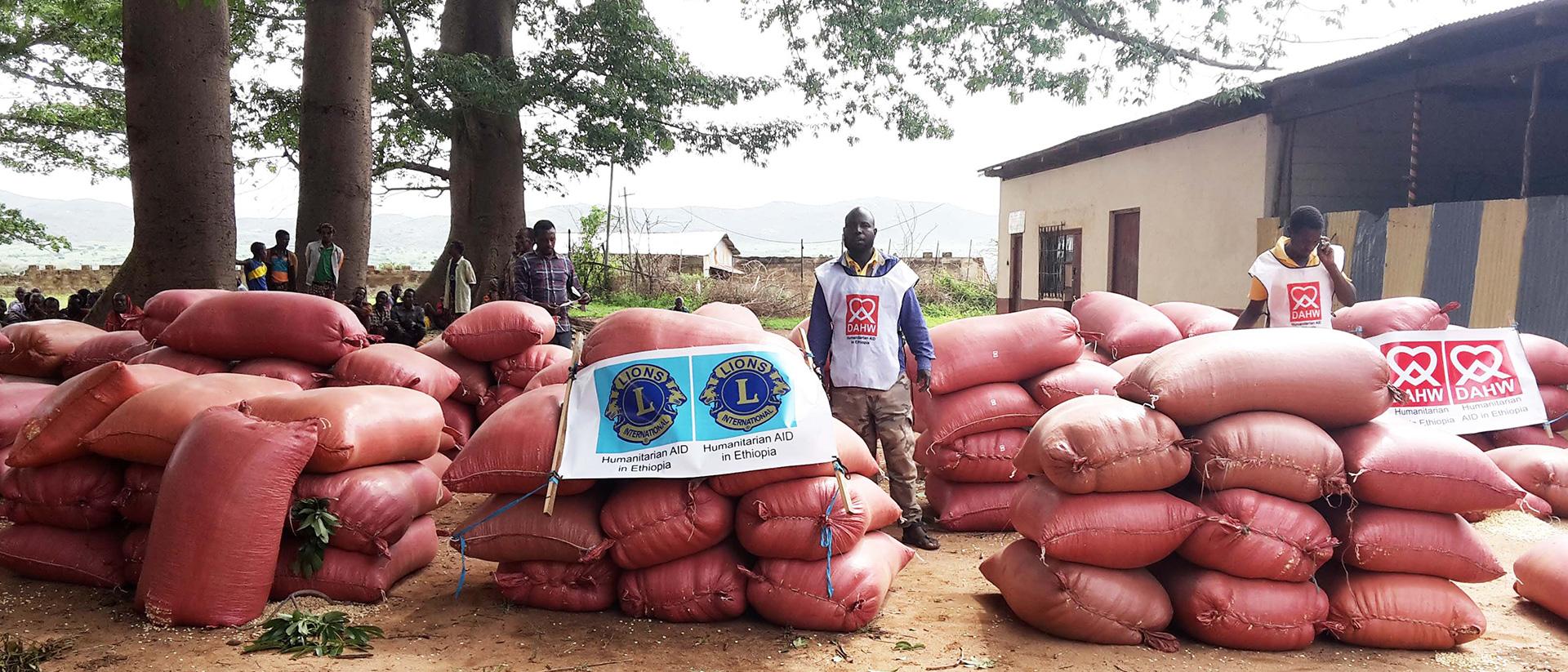 Humanitarian AID in Ethiopia - Rationsverteilung