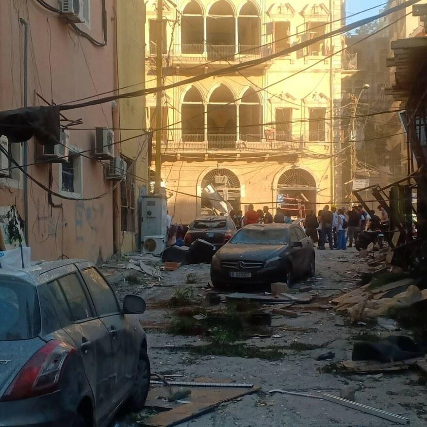 2020 Libanon - Die Explosion verwüstete die gesamte Infrastruktur