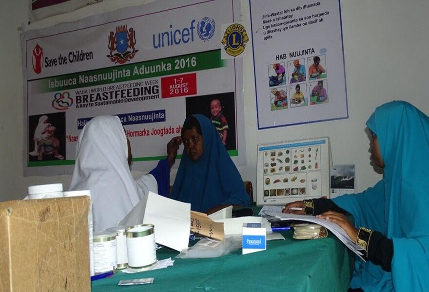 2017 Somalia - Besonders werdende Mütter finden im Gesundheitszentrum dringend benötigte Hilfe, Vorsorge und Beratung.