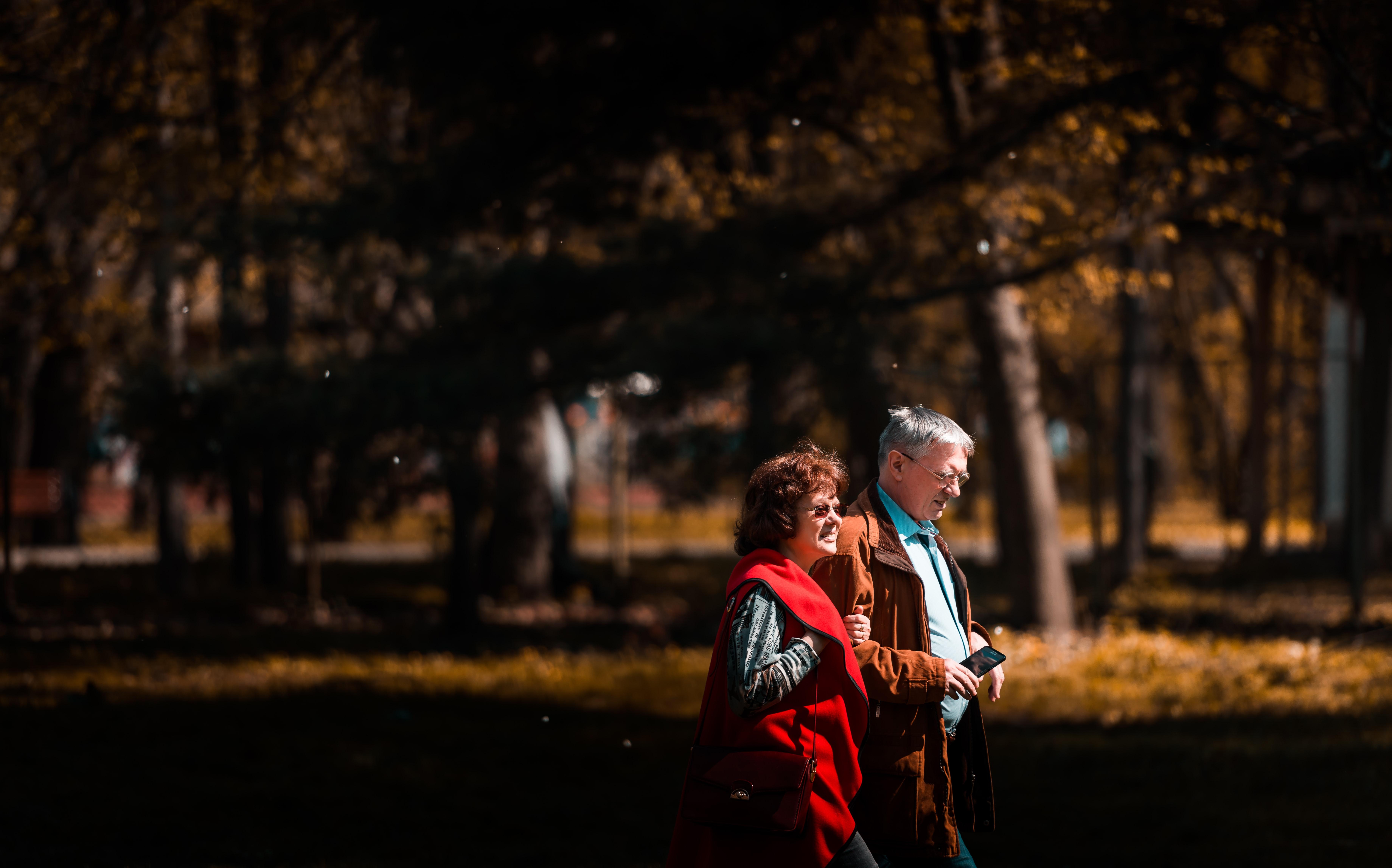 2021 Lion SEN - Zwei Senioren unternehmen einen entspannten Ausflug zu Fuß